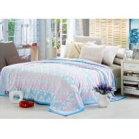 Comfortable Polyester Solid Flannel Blanket 3D Printed Super Soft For Bed 220*240