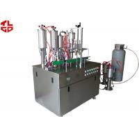 Buy cheap Glass Cleaning Spray Aerosol Filling Equipment , Spray Can Filling Machine from wholesalers