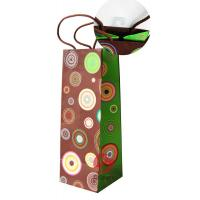 Buy cheap Wine Bottle, Christmas Gift, Art Paper 4 color printed Coloured Paper Bags With Handles product