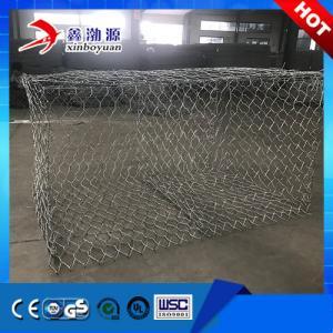 China Galfan or PVC Coated Gabion Box Stone Cage Netting Gabionbaskets on sale