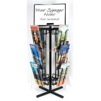Buy cheap Free Standing Rotating Retail Display Fixtures With Metal Brochure Display Rack product