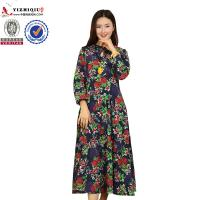 Buy cheap Chinese Retro Ladies Long Sleeve Dresses With Mandarin Collar Neckline product
