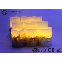 Buy cheap 3pk LED candle FlamelessCandle Christmas candle painting with silkribbon product