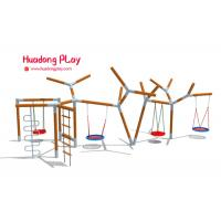 Buy cheap Large Playground Equipment Swings , Rose Wood Garden Swing Set For Toddler product