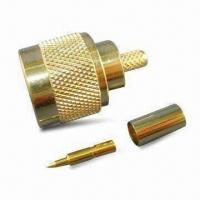 Buy cheap RF Coaxial Connector N Plug Crimp for RG58 and CLF200, with Teflon Dielectric product