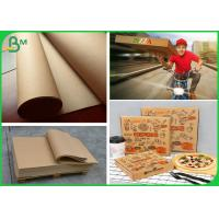 Buy cheap Smooth Surface 300GSM Brown Kraft Paper Roll For Making Pizza Box product