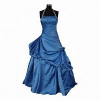 Buy cheap Royal Blue Halter Ruched Beaded A Line Wedding Dress, Customized Colors are Accepted product