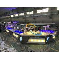 Quality Blue Led Display Restaurant Buffet Counter / Commercial Buffet Serving Table for sale