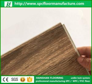 China 2017 Top Quality best price Fireproof spc Click flooring luxury vinyl plank floor with Floorscore on sale