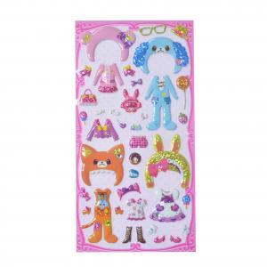 Buy cheap Hologram PVC Foam Japanese DIY Dress Puffy Stickers Size 19*7.5cm Fun Stickers product