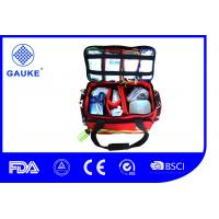 China Commercial Backpacking Medical First Aid Kit Medical Trauma Bag With Printed Logo on sale