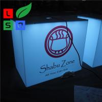 Buy cheap Outdoor Using Cube Light Box Sign Front Store Hanging 3D Led Aluminum product