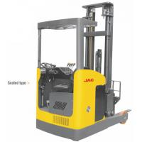 Buy cheap Narrow Aisle Reach Truck Forklift 1.5 Ton Seated Type For Warehouses / Supermarkets product