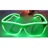 China Sound Activated El Wire Glasses For Woman , Green Led Light Up Glasses on sale