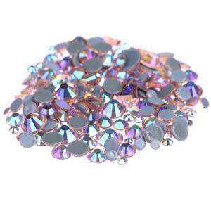 Buy cheap Custom Size Stick On Rhinestones  , Round Shape Glass Crystal Rhinestones product
