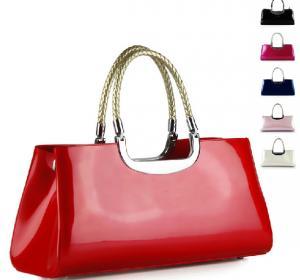 Buy cheap The new patent leather retro handbags woven handbag handle dinner dress bag bride bag product