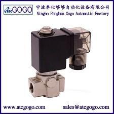válvula de solenoide de aço inoxidável da maneira 200bar 2 para o óleo da água do ar