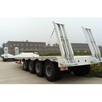 Buy cheap Mechanical Tri - Axle Low Bed Semi Trailer / Flat Bed Semi Trailer product