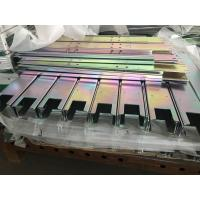 Buy cheap Laser cutting bending Q235 mild steel parts with yellow zinc finish product