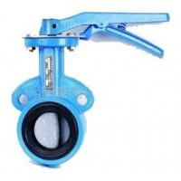 Buy cheap Low Noise Water Butterfly Valves Chain Wheel Turbine Type EPDM Seated product