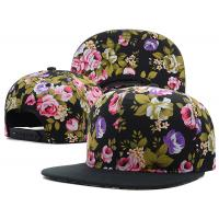 Sublimated Flat Brimmed Snapback Baseball Caps Blank Floral Plain Logo Available
