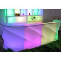 Buy cheap Nightclub Illuminated Bar Counter Glowing Illuminated Led Light Table Bar Counter Design from wholesalers