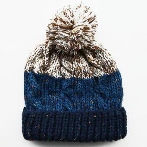 Buy cheap 義烏市の注文のしまのある卸し売りかぎ針編みの帽子は子供の女の子のためのPom Pomの帽子の帽子の帽子を編みました product