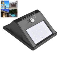 China 1W Rechargeable LED Solar Wall Light For Outside Patio 23 - 25lm Lumen on sale
