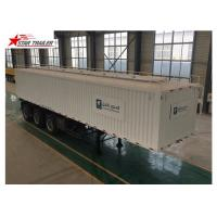 Buy cheap 3 Axles Van Truck Flatbed Container Trailer With ABS Brake System product