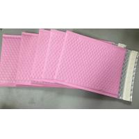 China Custom Aluminum Foil Pink Metallic Bubble Envelope Moisture Proof on sale