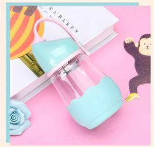 Buy cheap かわいいPPのふたの赤ん坊のミルクの瓶ガラス、赤ん坊LW-D043のためのピンクの供給びん product