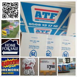 """Buy cheap écran 24x18 fait sur commande imprimant les signes de yard, 96"""" X 48"""" signes de pelouse product"""