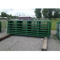Buy cheap 1800mm x 2100mm Horse Fence Round Pen 42mm O.D x 1.6 mm thickness Arena Corral Panel and Fram Gate Used In USA Market product