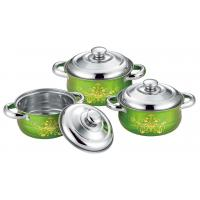 China Food Grade Ss Kitchen Cookware Sets 6pcs Colorful 16cm To 20cm Sauce Pot on sale