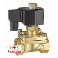 Brass Normally Open Water Solenoid Valve 2 Way Low Voltage For Hydraulic System