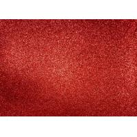 Buy cheap Magenta Red Glitter Fabric For Dresses , Cold Resistance Shiny Glitter Fabric product