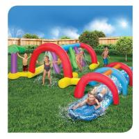 China Inflatable Water Pool Slides / Backyard Adventure Water Park Slide Sprinklers on sale