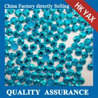 Buy cheap China wholesale blue rhinestuds hot fix, octagon rhinestuds hot fix, hot fix studs product