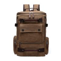 Light Weight Canvas College Student Backpack With Side Pockets 30 - 40L