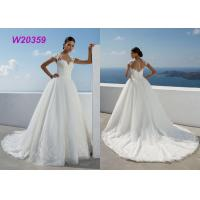 Buy cheap New Style Sweep Brush Train White Cap Sleeve Bride Frocks Custom Bridal Ball Gown product