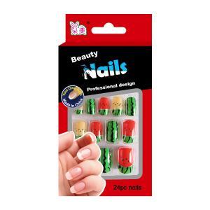 Buy cheap Full Cover Artificial Salon Fake Nails Fruit Printing Cartoon False Nail product