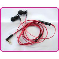 China Popular Flat Cable Metal Earphones With Mic And Volume Control, Stereo Cell Phone Earphones on sale
