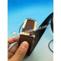 Quality Poker Cheating IR Camera Device Brown Leather Belt Camera to Scan Invisible Ink for sale