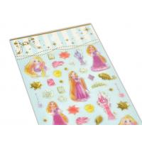 Buy cheap OEM Disney Cartoon Alice Girls Epoxy Stickers With Gold Foil 3D Handmade Crystal Fun Stickers product