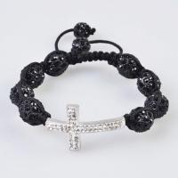Buy cheap Low price and best service Tresor Paris Shamballa Crystal Bangle Bracelets with black bead product