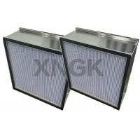 Buy cheap Rigid HEPA Filter With Aluminum Separator Galvanized Steel Frame Clean Room product