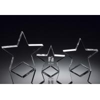 Buy cheap standing crystal star award/lone star/star trophy/blank crystal star award/crystal star product