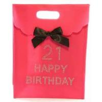 Buy cheap 250 Gram White Card Board Paper Gift Bags For Advertising With Ribbon from wholesalers
