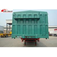 Buy cheap Steel 60T Side Wall Trailer , High Intension Trailer With Folding Sides product