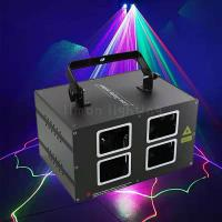Buy cheap Double Head Double Layer Four Lens Red Blue Laser Line KTV Light product